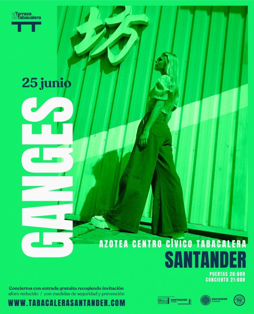 Concierto de Ganges en Santander, La Terraza de Tabacalera