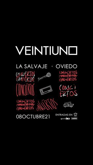 Concierto de Veintiuno en Oviedo
